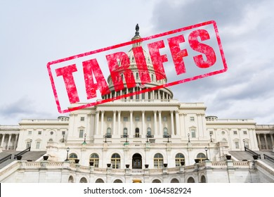 Tariff stamp effect on United States Capitol Building