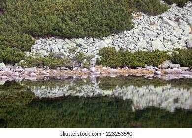 Tarn Skalnate pleso at High Tatras mountains, Slovakia
