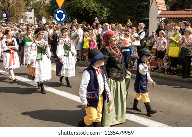 "TARNOWSKIE GORY,POLAND - SEPTEMBER 10 2017:  ""Gwarki"" a street parade at Tarnowskie gory town. Celebretion of ""Gwarki days"" Silver miners"