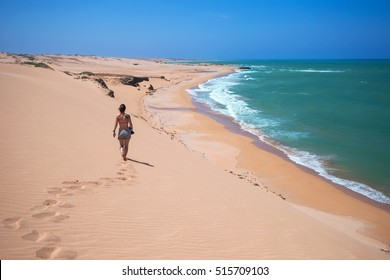 Taroa dunes near Punta Gallinas is the northern point of South America, La Guajira, Colombia
