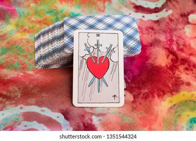 tarot card with heart