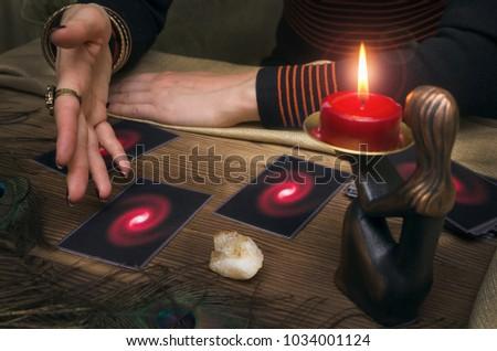 Tarot Cards Fortune Teller Future Reading Stock Photo (Edit