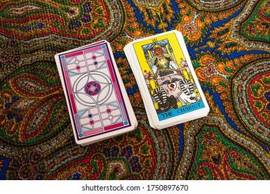 Tarot cards. Magic. Divination. The chariot