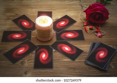 Tarot Cards Deck On Fortune Teller Stock Photo (Edit Now