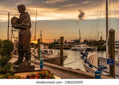 Tarpon Springs, FL 7/28/2018 Sponge Diver Statue across from Sponge Exchange along the Anclote River