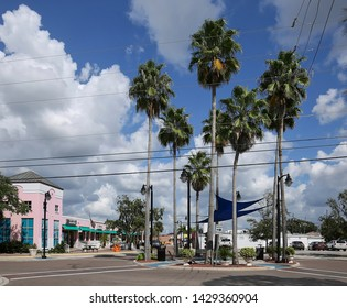 TARPON SPRINGS, FLORIDA, USA - OCTOBER:  Downtown view of Tarpon Springs a historic city with the highest percentage of Greek Americans of any city in the United States as seen on October 5, 2018.