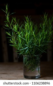 Tarragon in glass