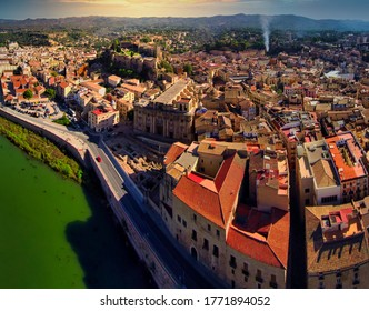 Tarragona. Aerial view in Tortosa, city of Tarragona.Catalonia,Spain. Drone Photo
