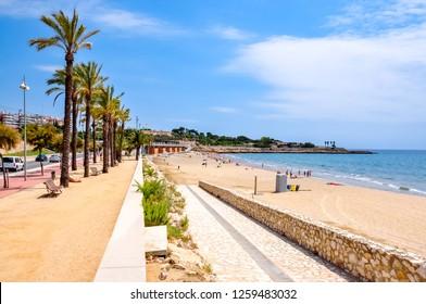 Tarragona beach and promenade, Spain