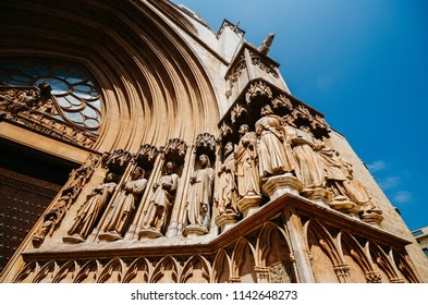 Tarragona cathedral in Catalonia, Spain. 12th-century Romansque and gothic architectural style