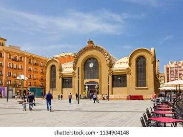 TARRAGONA, SPAIN - APRIL 25, 2018:  Central Market, built in 1915