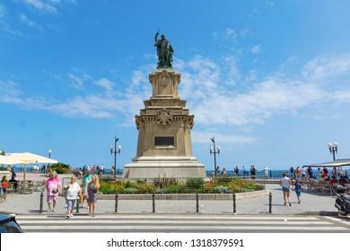Tarragona, Spain - August 10, 2018: Tarragona is a port city located in northeast Spain on the Costa Daurada by the Mediterranean Sea.