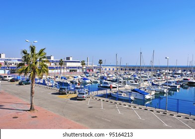 TARRAGONA, SPAIN - FEBRUARY 10: Port Esportiu de Tarragona on February 10, 2012 in Tarragona, Spain. This marina has 6 meters of vessel draught, 400 moorings and 400 parking lots