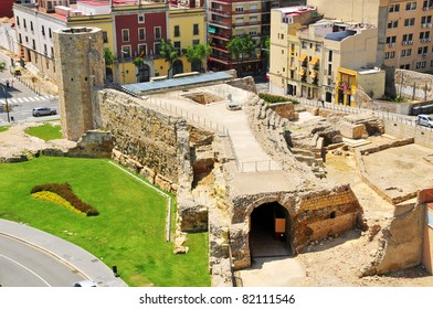 TARRAGONA, SPAIN - MAY 14: Remains of Roman circus on May 14, 2011 in Tarragona, Spain. It is part of Archaeological Ensemble of Tarraco which has been designated a World Heritage Site by UNESCO.