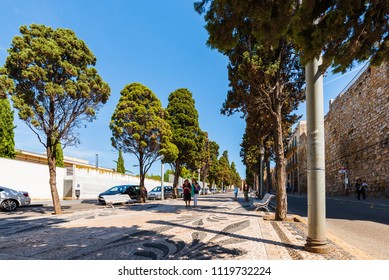 TARRAGONA, SPAIN - SEPTEMBER 17, 2017: View of the city street in the city center. Copy space for text