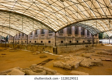 TARRAGONA,SPAIN-JUNE 26,2016: Ancient roman necropolis, funerary area, Tarragona.