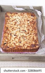 Tart with apples, cake dessert, apple cake