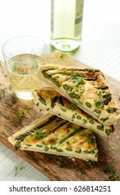 tart with asparagus