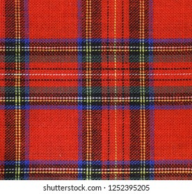 tartan background the classic Scotland fabric with red green a