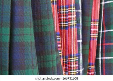tartan kilt and clothing for