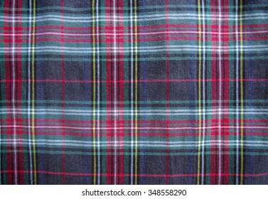 Tartan pattern material