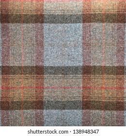 Tartan pattern wool blanket as a background