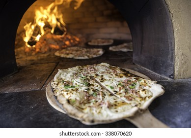 Tarte Flambee, ATraditional French Dish.