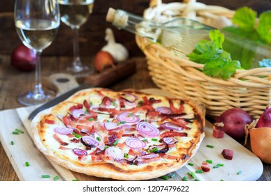 Tarte with onions