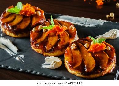 Tarte Tatin with pears