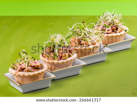 Tartlets Chicken Salad Sprouts Serving Ideas Stock Photo Edit Now