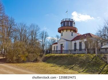 Tartu, Estonia - March 30, 2019: Old University observatory building