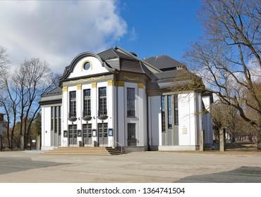 Tartu, Estonia - March 30, 2019: Small House of the Tartu Vanemuine Theatre