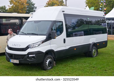Tartu - September 26: Iveco Daily minibus at the Tartu Motoshow on September 26, 2015 in Tartu, Estonia