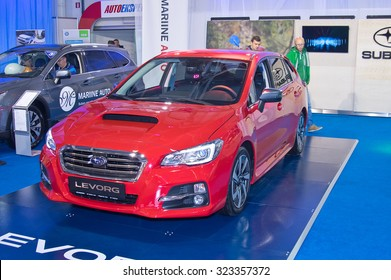 Tartu - September 26: Subaru Levorg at the Tartu Motoshow on September 26, 2015 in Tartu, Estonia