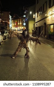 Tarvisio, Udine / Italy - December 5th 2017: Krampus posing on street of Tarvisio