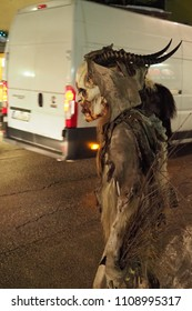 Tarvisio, Udine / Italy - December 5th 2017: Krampus on street of Tarvisio