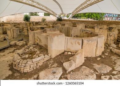 Tarxien, Malta. Neolithic sanctuary (UNESCO list), 3250 - 2800 BC