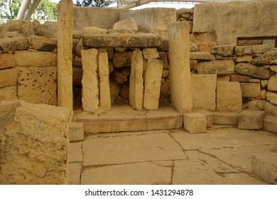 TARXIEN, MALTA - NOV 30, 2018 - neolithic temples of Tarxien, Malta