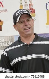"TARZANA, CA - APRIL 18: Comedian Mike Wilson arrives at the 8th annual ""Hack n' Smack, Kerry Daveline Memorial, Celebrity Golf Classic"" on April 18, 2011 in Tarzana, CA"