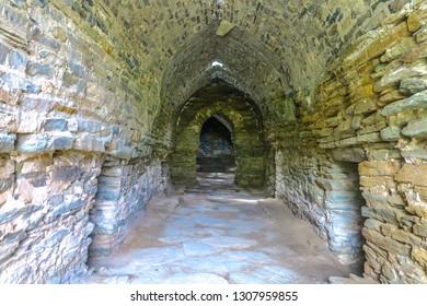 Tash Rabat Caravanserai Settlement Ruins for Ancient Traders Travellers and Caravans Interior Corridor