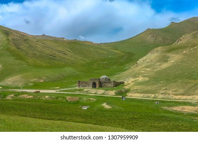 Tash Rabat Caravanserai Settlement Ruins for Ancient Traders Travellers and Caravans with Landscape View Point