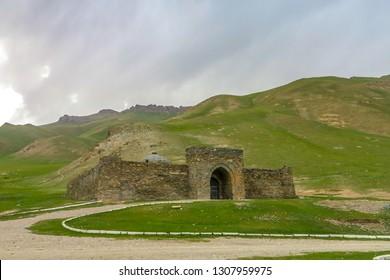 Tash Rabat Caravanserai Settlement Ruins for Ancient Traders Travellers and Caravans with Landscape
