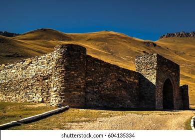 Tash Rabat caravanserai in Tian Shan mountain in Naryn province, Kyrgyzstan