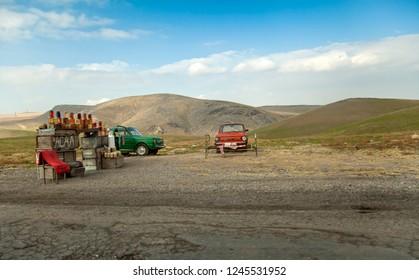 TASHKENT, UZBEKISTAN /11.18.2012 Roadside oil trading
