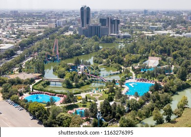 Tashkent, Uzbekistan - August 11, 2018:  Aerial View  of Tashkent