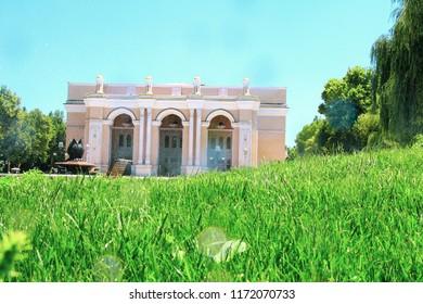 TASHKENT, UZBEKISTAN, MARCH 25, 2018: Theater named after Alisher Navai in Tashkent