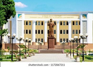 TASHKENT, UZBEKISTAN, MARCH 25;Statue of the great poet Alisher Navai in Tashkent