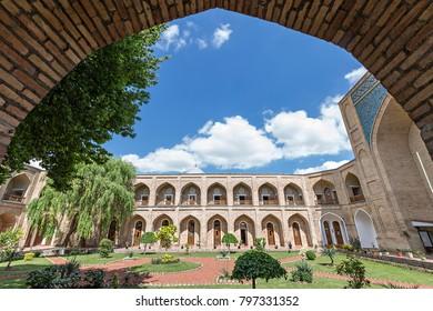 TASHKENT, UZBEKISTAN - MAY 18, 2017: Interior of Kukeldash Madrasah, in Tashkent, Uzbekistan.