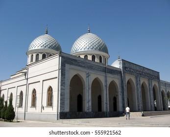 Tashkent, Uzbekistan - September 13, 2007: Two Cupolas of Juma Mosque.