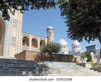 Tashkent, Uzbekistan - September 13, 2007: Kukeldash Madrassah and Juma Mosque.